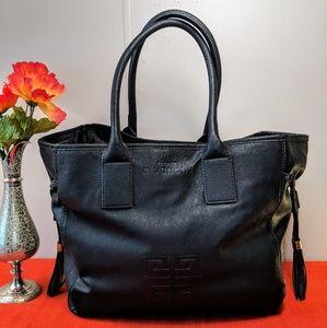 Givenchy Parfums Black Vegan Leather Tote Bag